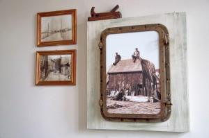 Stare fotografie i pocztówki jako wystrój lokalu